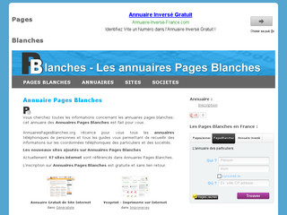 Annuaire Annuairespagesblanches.org